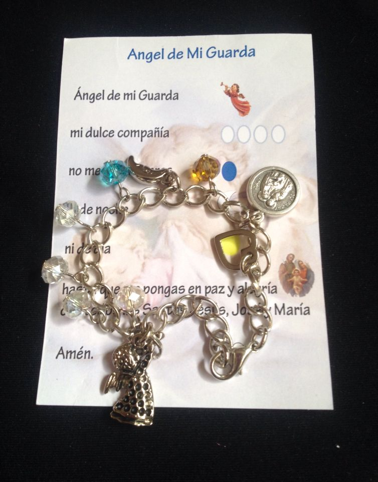 3129b898cf5b Pulsera Ángel de la Guarda - instagram @santaluaccesorios | pulseras ...