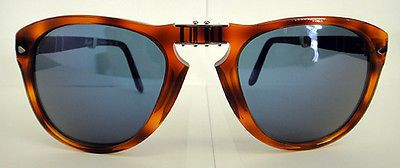 07e1ea67e7 POLARIZED Steve McQueen PERSOL Folding Havana Blue Sunglasses PO 714 SM 96  S3 54 713132367209