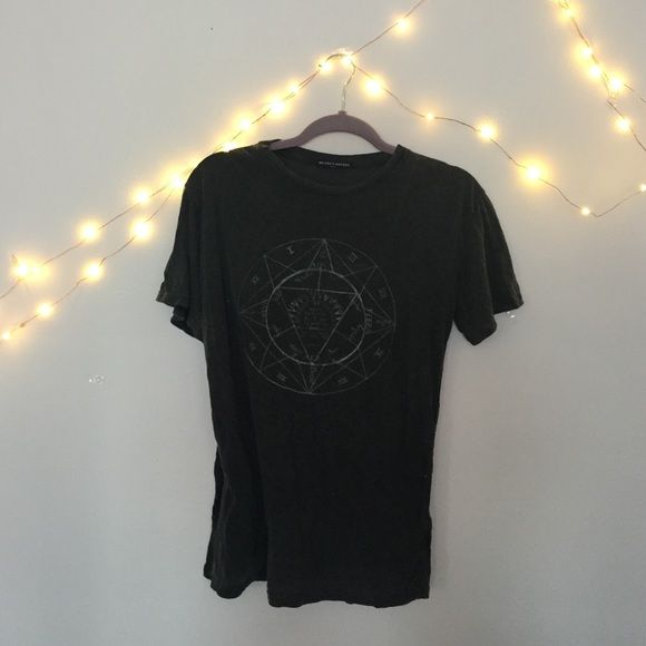 Brandy Melville astrology shirt Brandy Melville shirt with sold out print. Tiny hole in corner of shirt. Brandy Melville Tops Tees - Short Sleeve