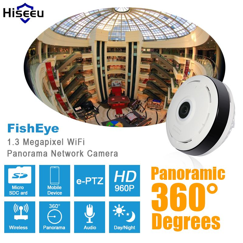 buy hd 960p panoramic ip camera 360 degree full view mini
