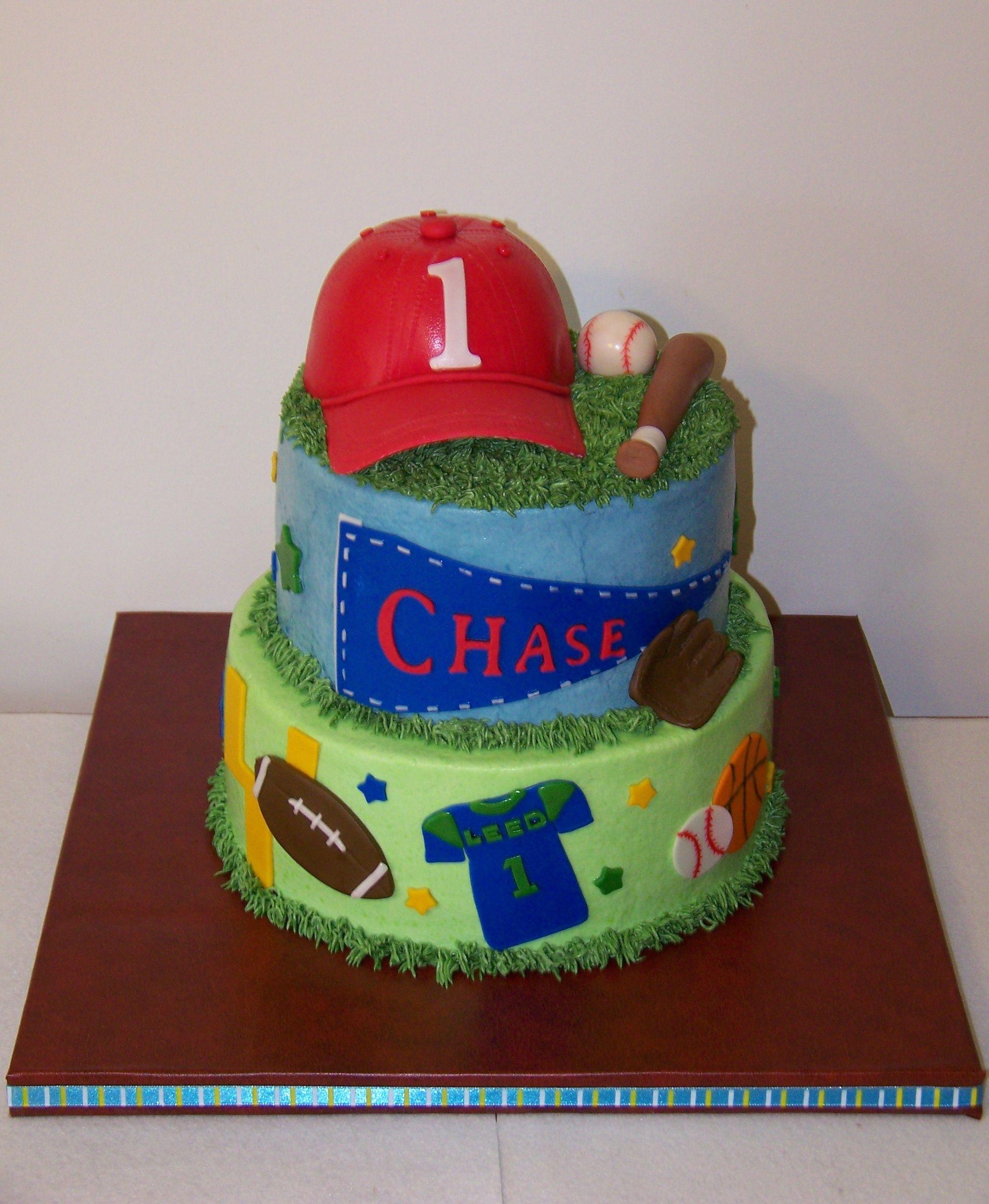 First Birthday Sports Cake