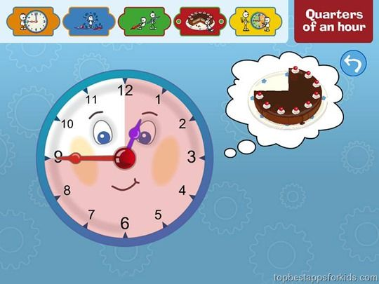 My first Clock Learn to tell the time app for kids by