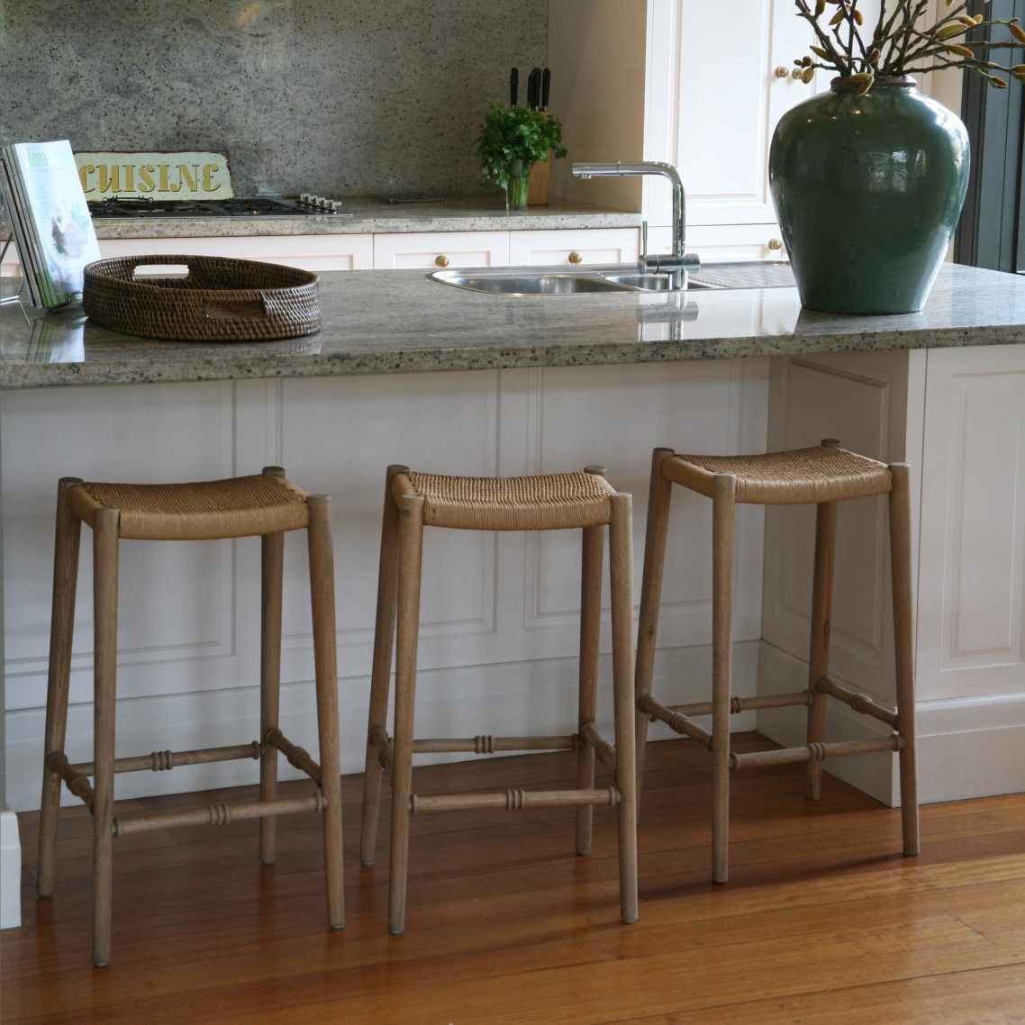 Kitchen Bar Stools On Sale Natural Used Wooden Bar Stool With Bamboo Woven Seat Without