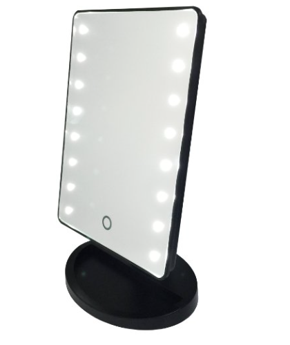 stand up vanity mirror with lights. White mini light up vanity mirror  Compact Vanities and Screens