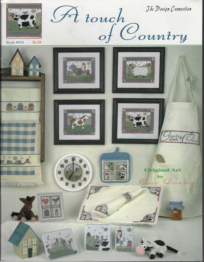 A Touch Of Country Design Connection 030 Cross Stitch Book Cow