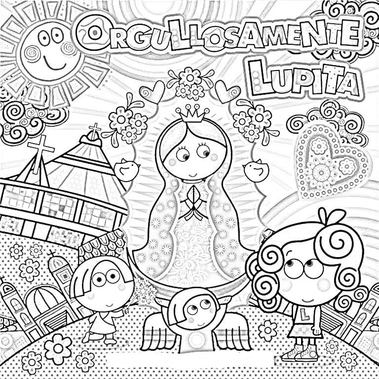 Lupita | Coloring 2 | Pinterest | Distroller, Virgen de Guadalupe y ...
