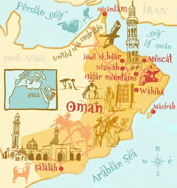 Illustrator Clare Nicholas Made This Unique Map Of Oman Which I