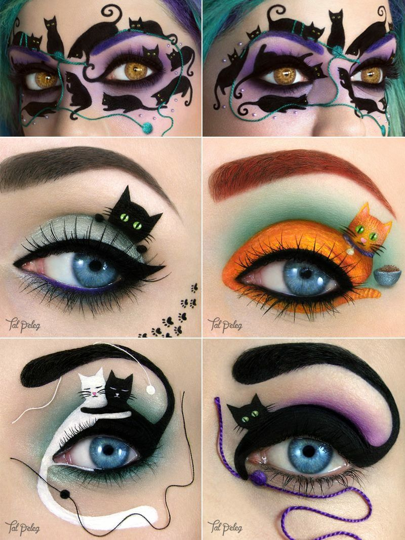 Cool Cat Eye Art Graphics For Halloween With