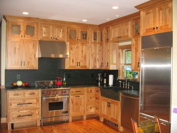 rustic cherry kitchen cabinets with mission style flush inset doors rh pinterest com Cherry Kitchen Cabinets Photo Gallery Rustic Alder Kitchen Cabinets