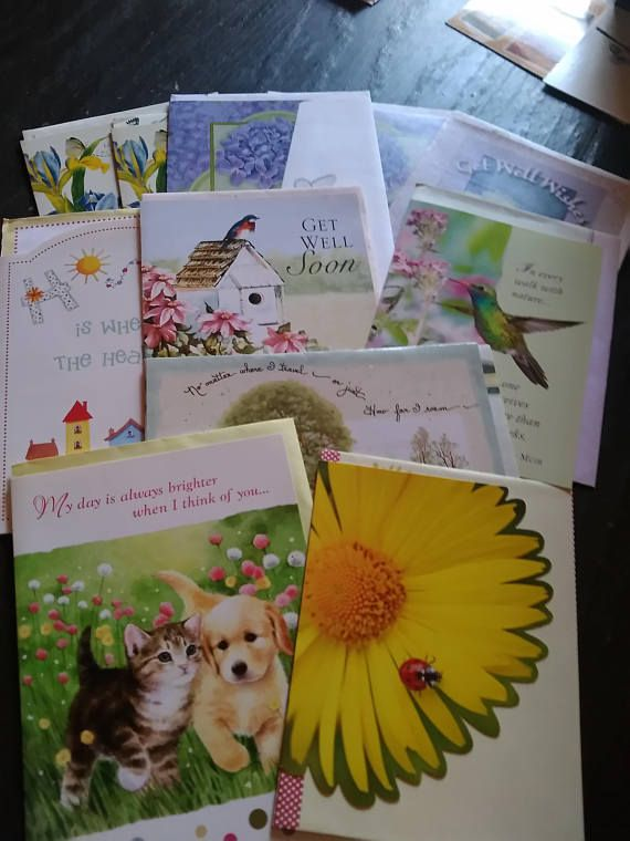beautiful greeting cards w envelopes assorted lot of 11