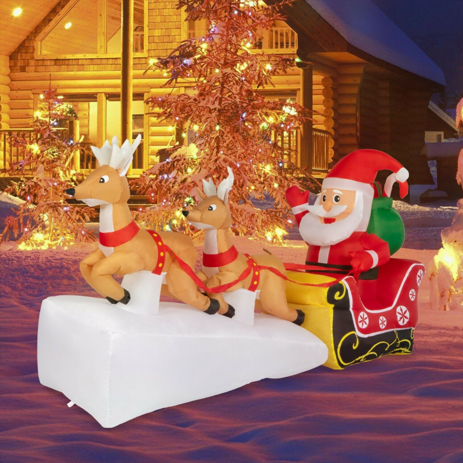 20+ Flying Santa And Reindeer Outdoor Decoration   MAGZHOUSE