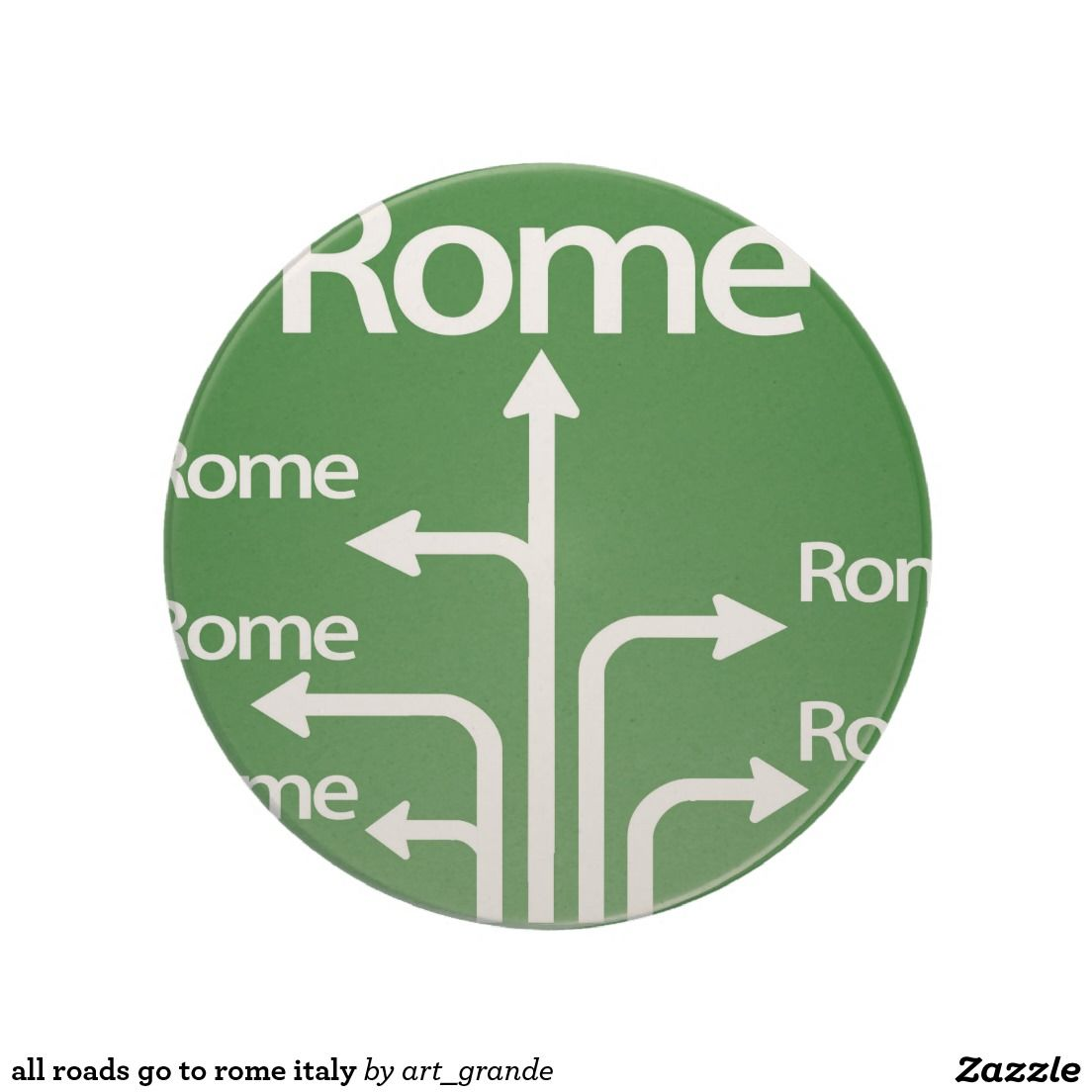 all roads go to rome italy coaster