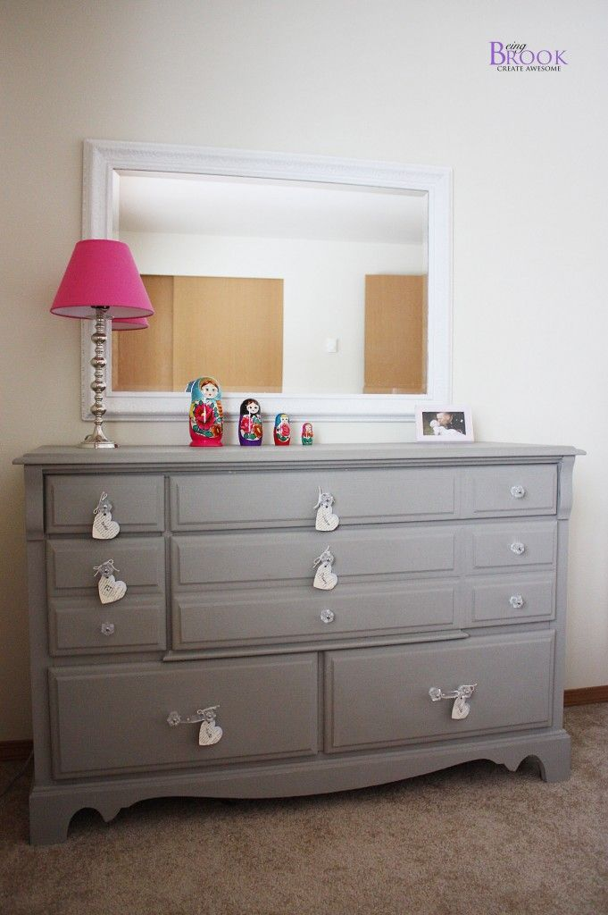I love this grey dresser painted with annie sloan chalk paint color ...