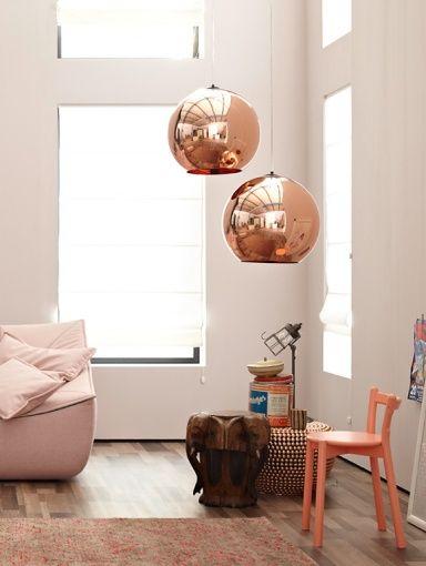 kupferdeko warmer schimmer f r zu hause spielt mit kontrasten tischleuchte base von tom. Black Bedroom Furniture Sets. Home Design Ideas