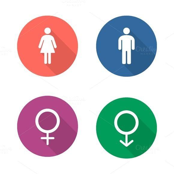Gender Symbols Icons Vector Symbols Human Icon Icon Design