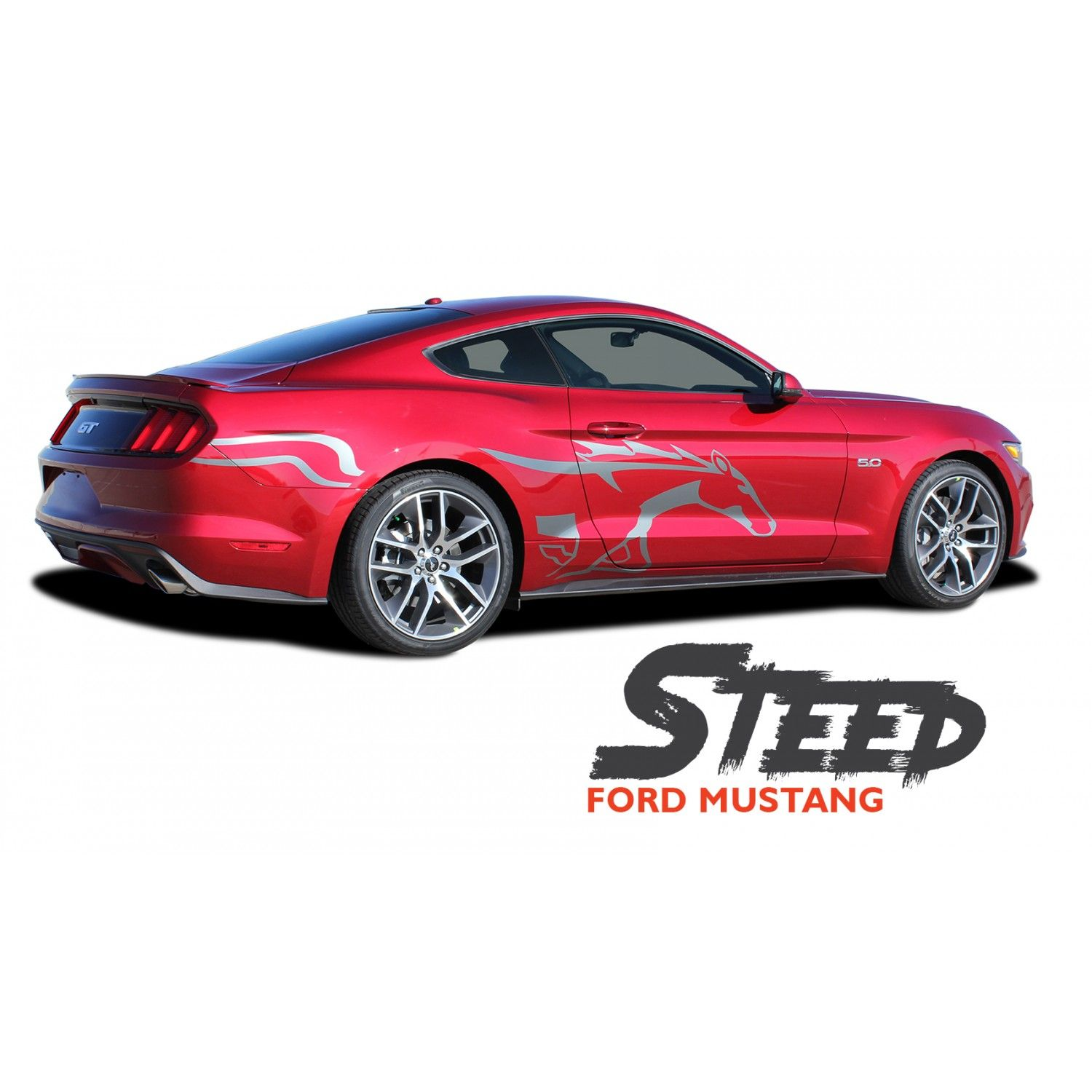 Ford Mustang Steed Pony Horse Side Door Body Vinyl Graphic Decals Stripes Kit For 2015 2016 2017 Stripe Kit Ford Mustang Vinyl For Cars [ 1500 x 1500 Pixel ]