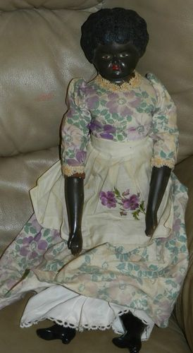 Antique African American Porcelain Doll Beautiful Quot Black