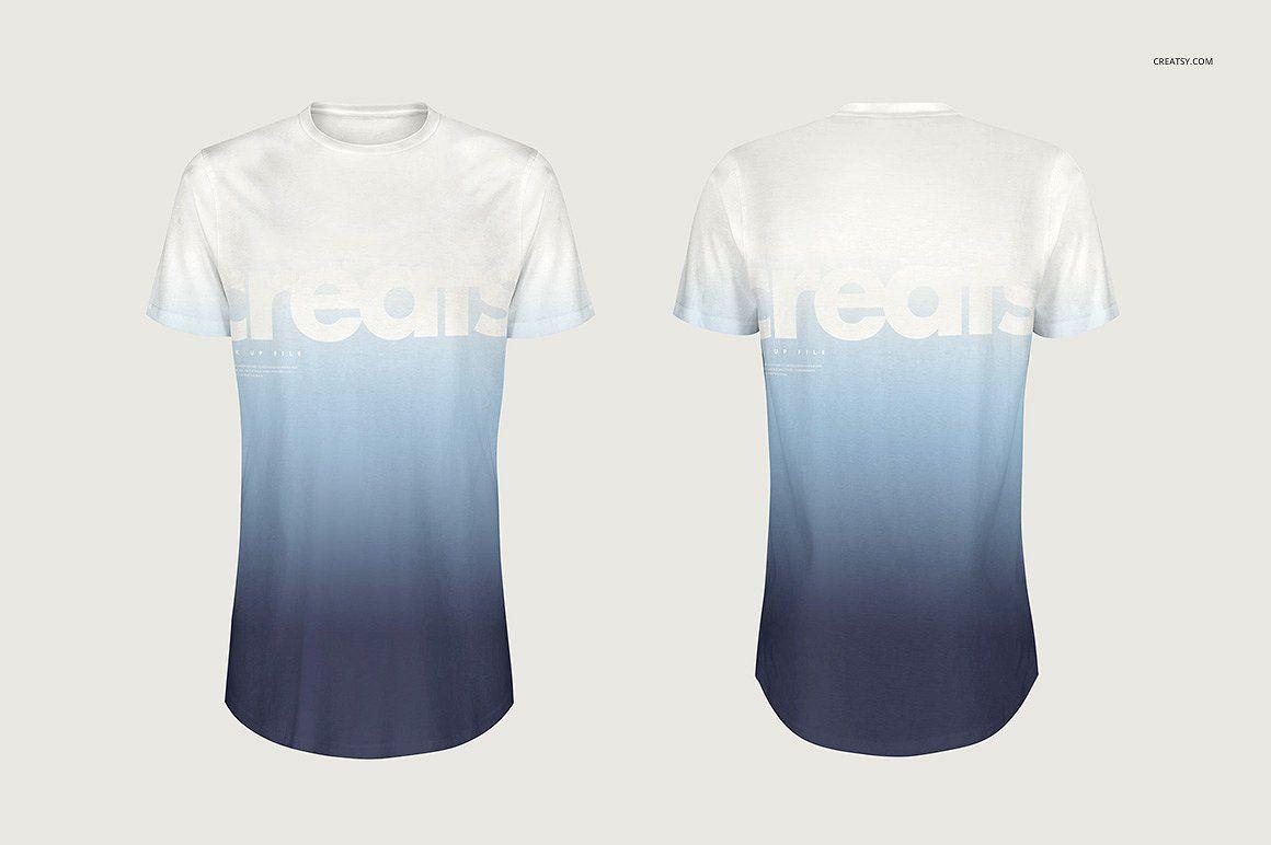 Download Longline T Shirt Mockup Set Shirt Mockup Tshirt Mockup Shirt Template