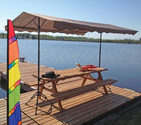 portable picnic table pop up canopy with carry bag : alaska ...