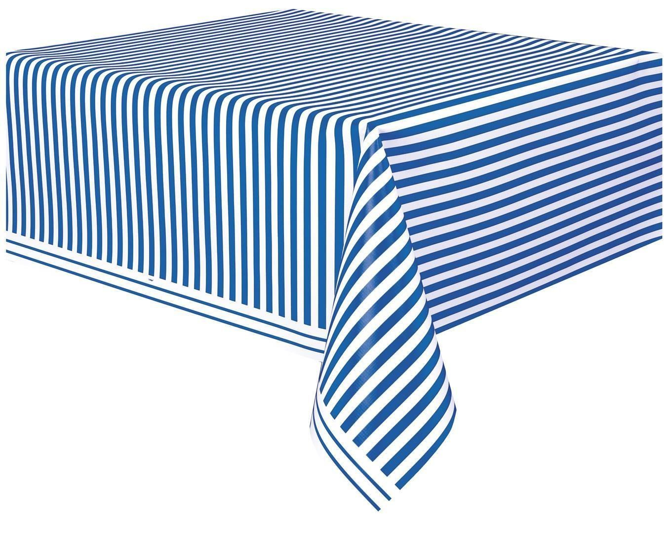 Nautical Striped Tablecloth; Baby Shower Table Cover; Birthday Party  Tableware; Unisex Baby Shower; Under The Sea Theme; Ahoy Itu0027s A Boy