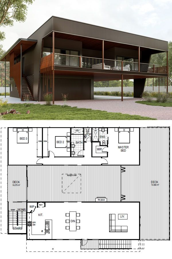 Kioloa architecturally designed kit home  in cabin pinterest homes and bedroom also rh