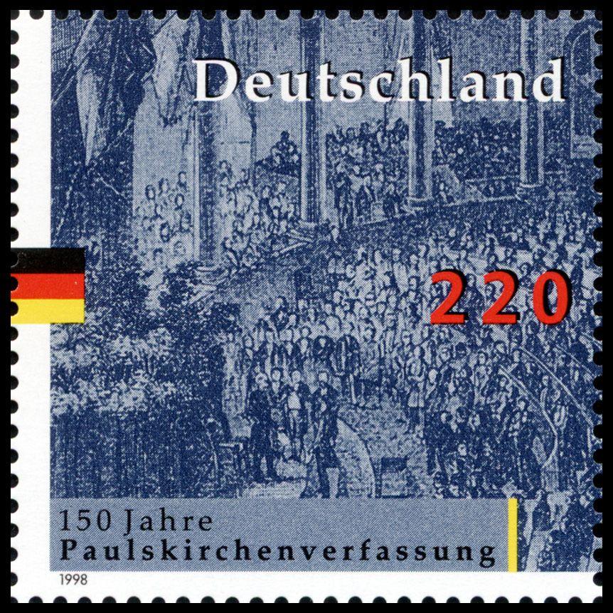 Deutschland 1998 150 Jahre Paulskirchenverfassung