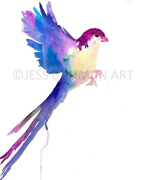 Impression D Oiseau D Aquarelle Serene Bird Par Jess Buhman