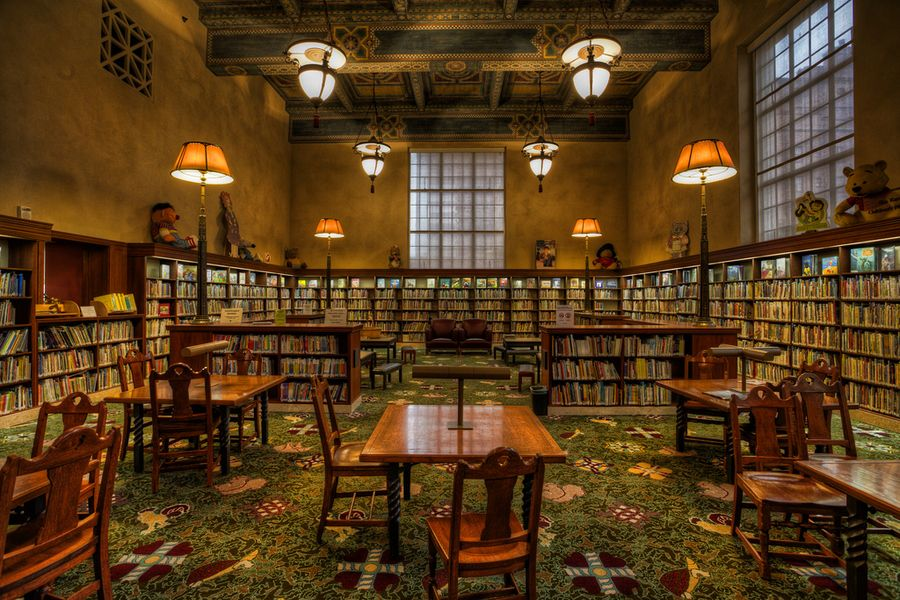 Los Angeles Public Library Children S Section Library Architecture Library Bookshelves Victorian Homes
