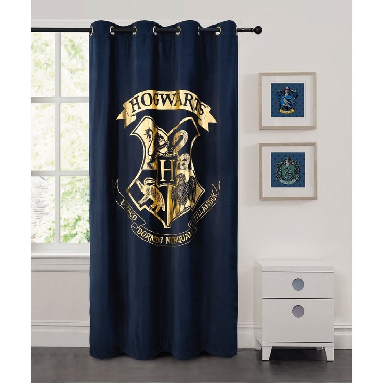 Harry Potter Eyelet Curtain Navy 140 X 223 Cm In 2020 Harry