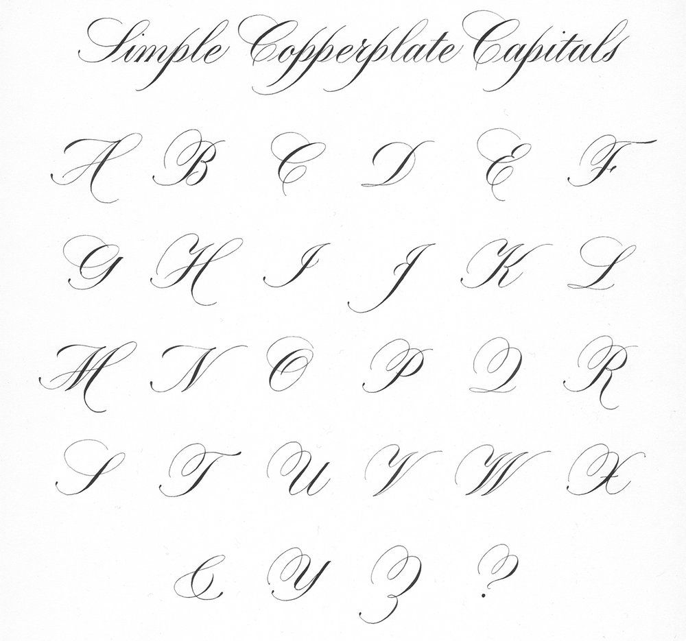 Copperplate Calligraphy Font Free Copperplate Script Simple Capitals Italic Calligraphy