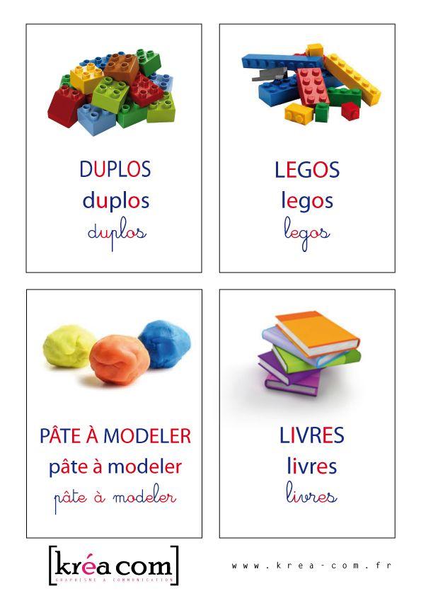 etiquettes pour caisse a jouets inspiration montessori http krea. Black Bedroom Furniture Sets. Home Design Ideas