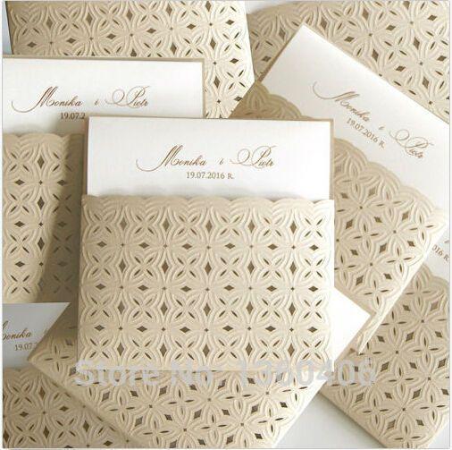Elegant pocket die cut laser cut wedding invitations ribbon knotbow elegant pocket die cut laser cut wedding invitations ribbon knotbow party greeting cards m4hsunfo