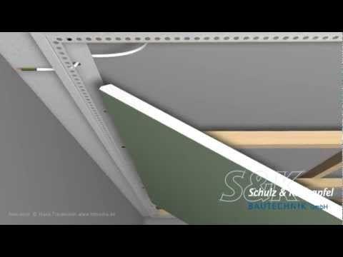 Gut gemocht LED-Trockenbauprofil mit Sichtschenkel für direkten Anschluß an LA24