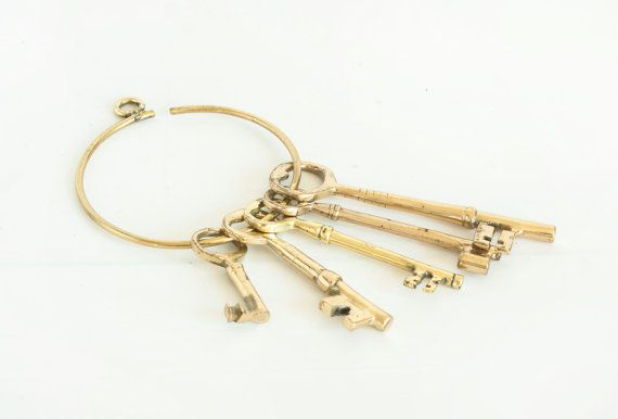 Vintage Decorative Brass Skeleton Key Ring Available At TheWildWorld On Etsy Homedecor
