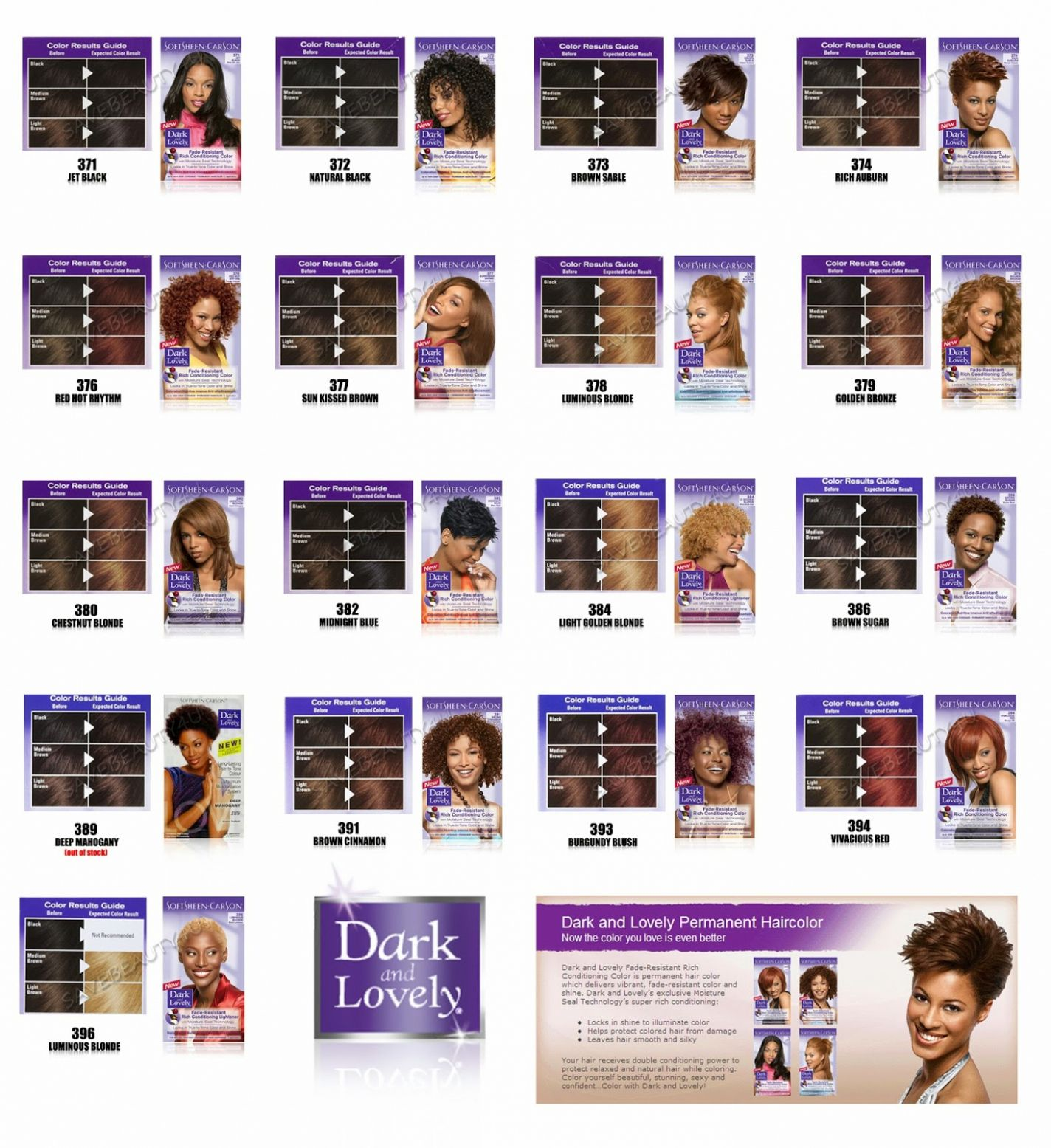 Dark and lovely hair dye color chart best natural hair color