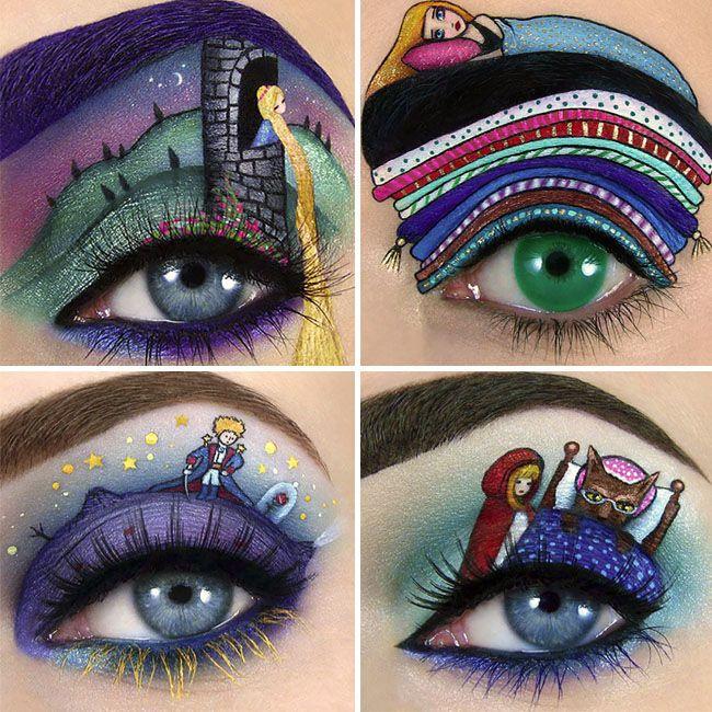 10 top maquiagens inspiradas em contos infantis #maquiagem #inspiração #princesas #Disney #contosdefada #festa #maquiagemtemática #Rapunzel #princesa #chapeuzinhovermelho #príncipe #pequenopríncipe #BrancadeNeve #Cinderela #desenho #arte #ilustração #Frozen