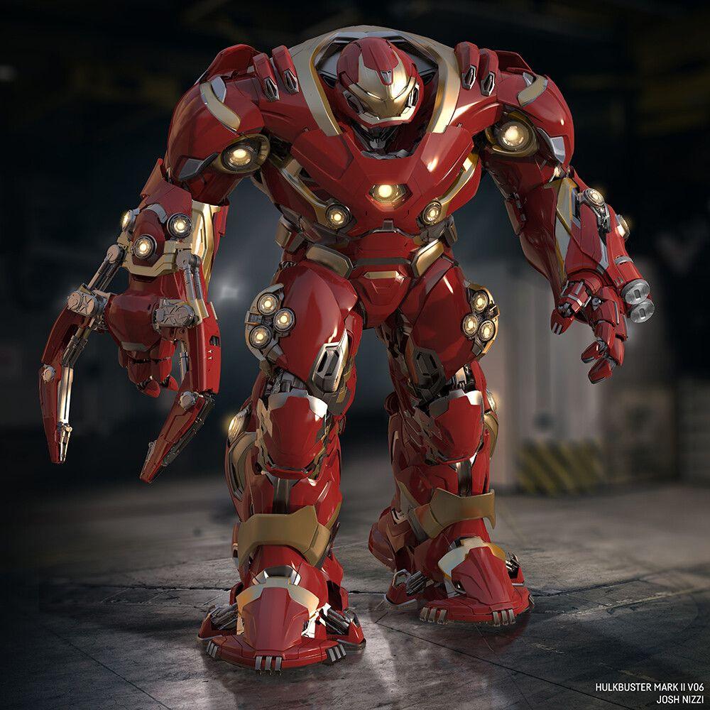 Artstation Avengers Infinity War Unused Hulkbuster Designs Josh Nizzi Iron Man Avengers Hulkbuster Iron Man Art