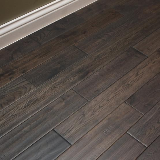 White Oak Charcoal Briquette 3 4 X 3 5 8 Hand Scraped Solid Hardwood Flooring Solid Hardwood Floors Wood Floor Colors House Flooring