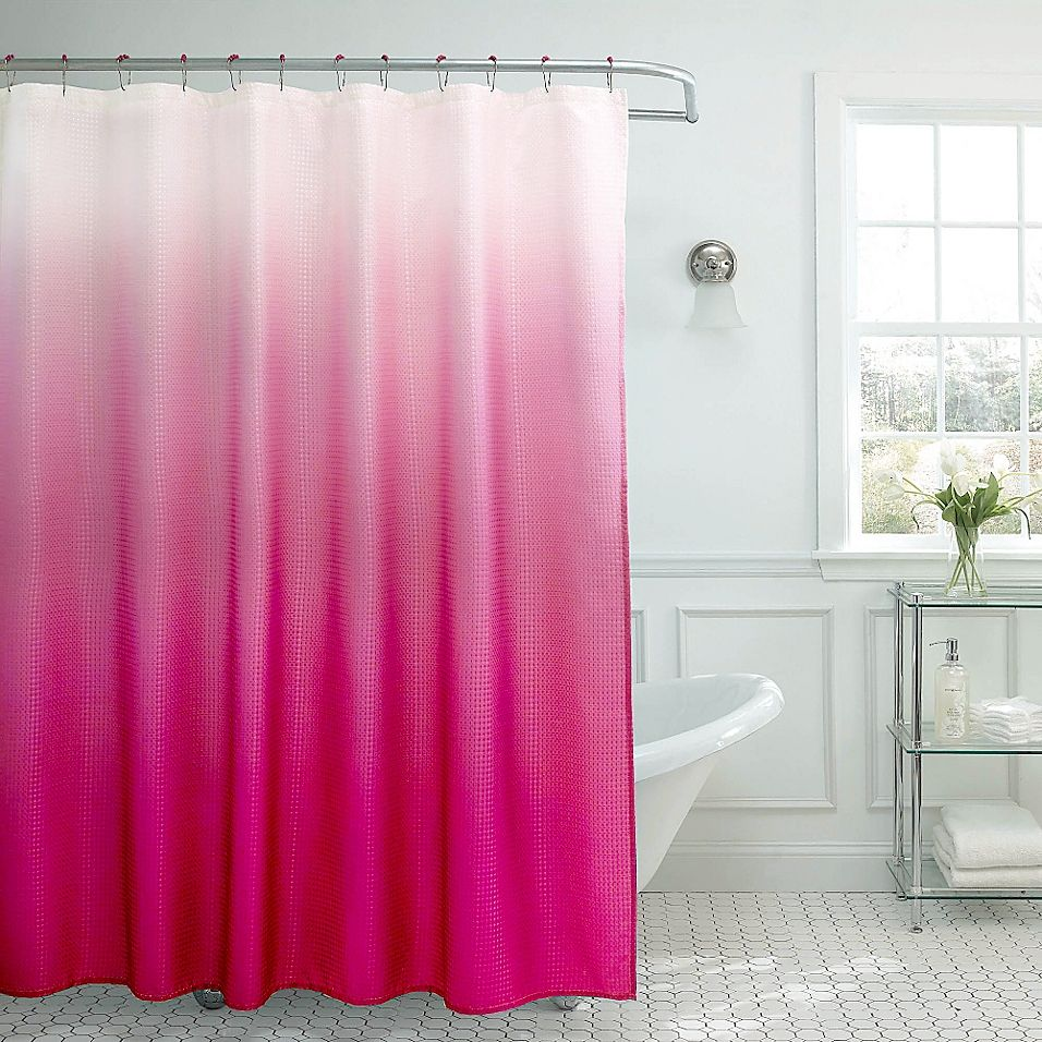Ombre Weave Shower Curtain In Fuchsia Products In 2019 Ombre