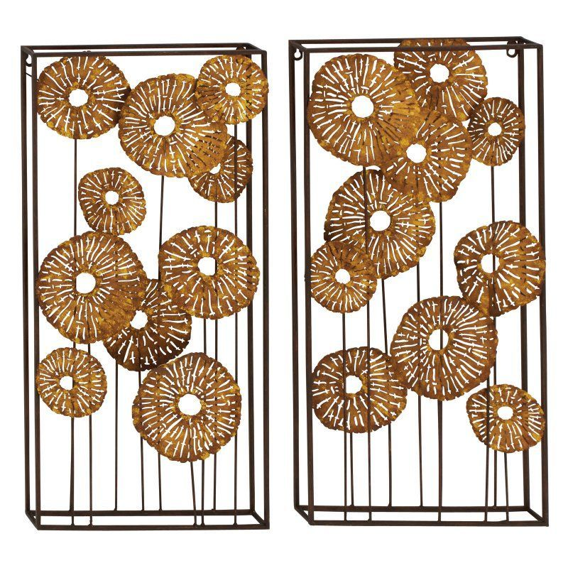 UMA Enterprises Metal Wall Sculpture - Set of 2 Boxes - 70952