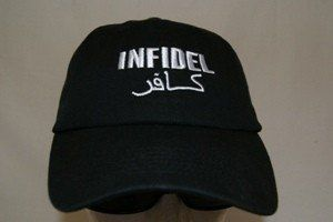 Embroidered Black Infidel baseball Hat Cap by Trade Winds. $5.90. Embroidered Black Infidel baseball Hat Cap. Adjustable Strap