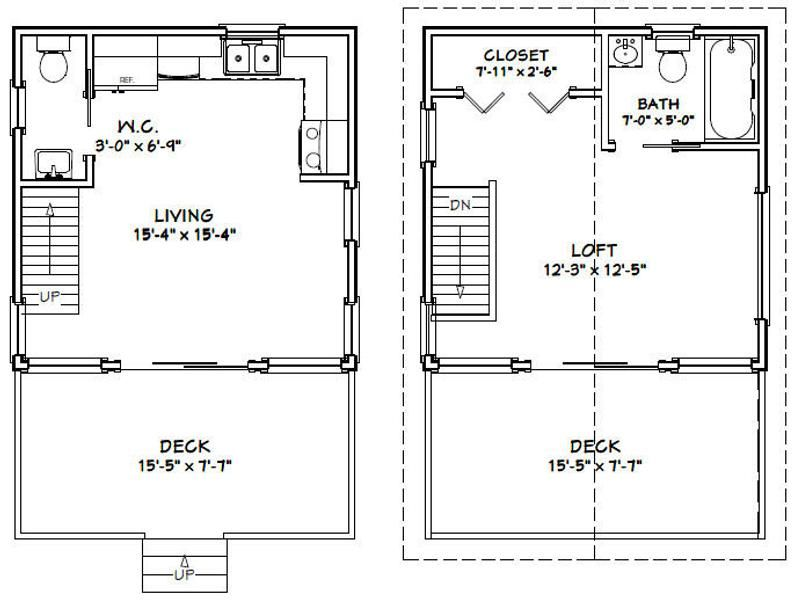16x16 House W Loft Pdf Floor Plan 493 Sq Ft Etsy In 2021 Loft Floor Plans Cottage Floor Plans Tiny House Floor Plans