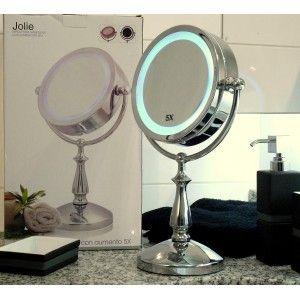 espejo de maquillaje con luz