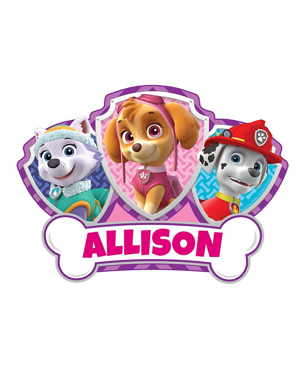 Paw patrol skye easy move personalized canvas decal - Skye patrulla canina cumpleanos ...