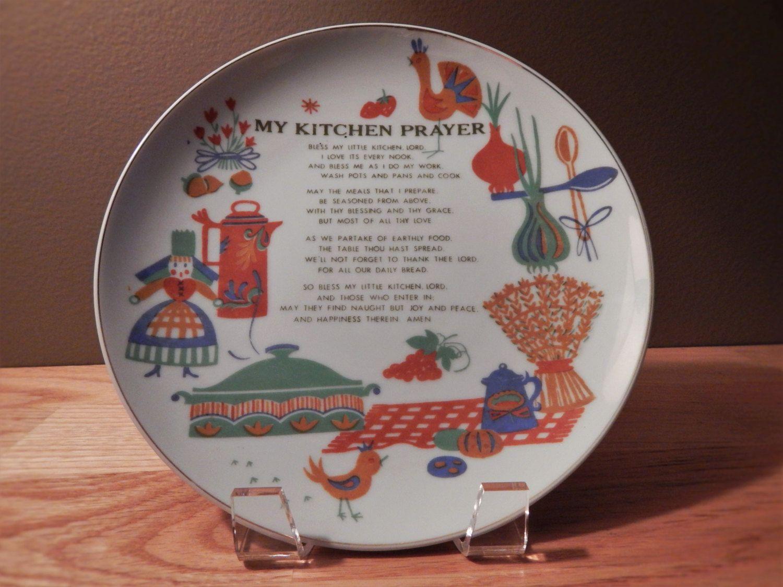 My Kitchen Prayer Napco China Decorative Plate & My Kitchen Prayer Napco China Decorative Plate   Plate stands China ...