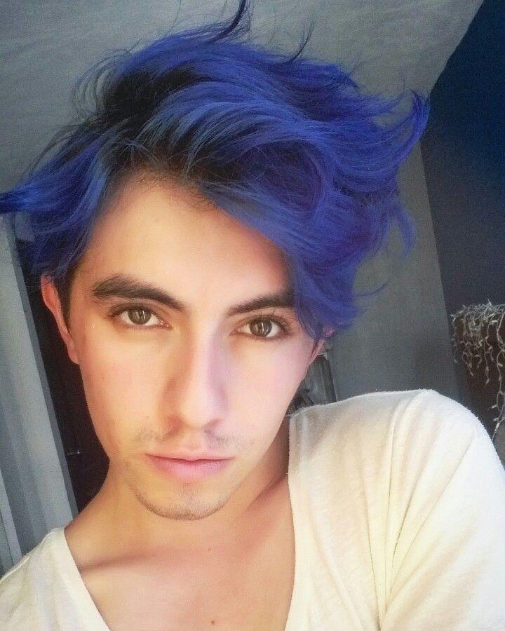 Cabello Azul Blue Hair Hombre Men Youtube Damian Cervantes