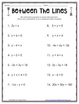 47+ Linear equations practice worksheet Education