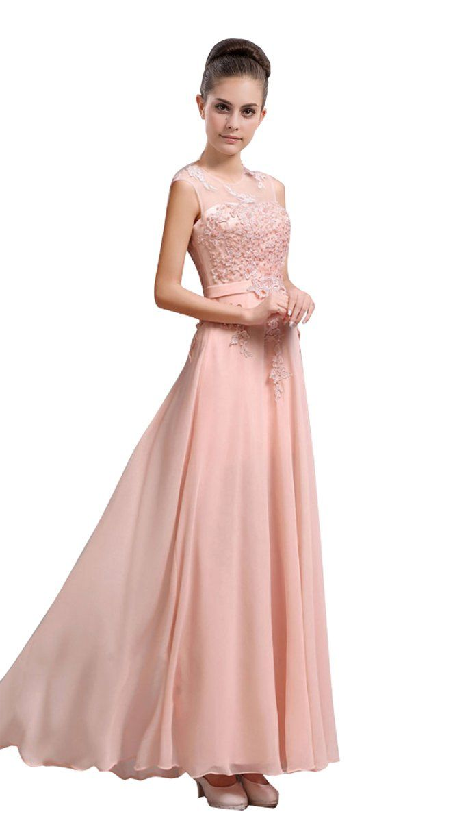 Amazon.com: LOVEBEAUTY® Women\'s Chiffon Long Evening Dress Prom ...