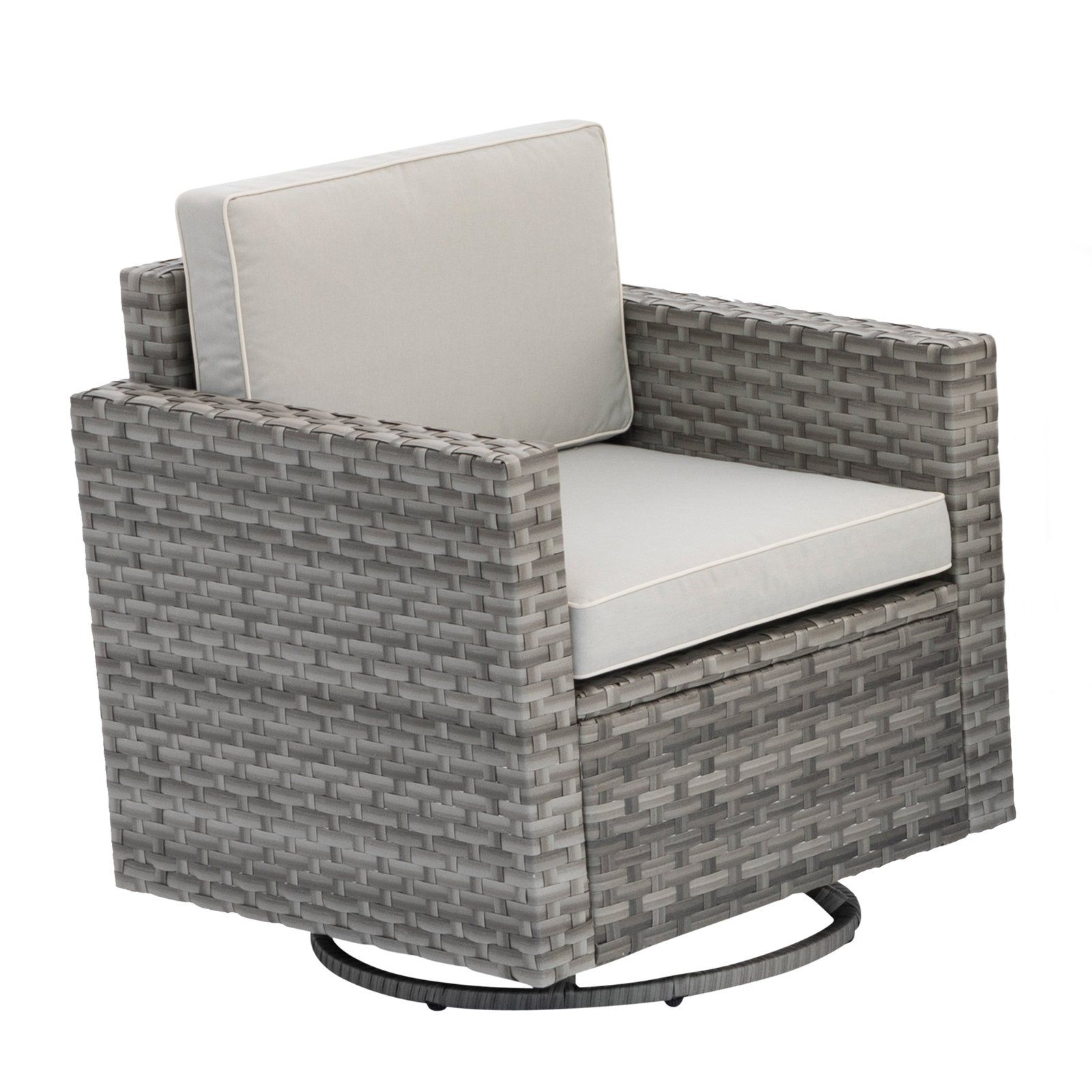 Super Coral Coast Berea Outdoor Wicker Swivel Chair With Cushions Cjindustries Chair Design For Home Cjindustriesco