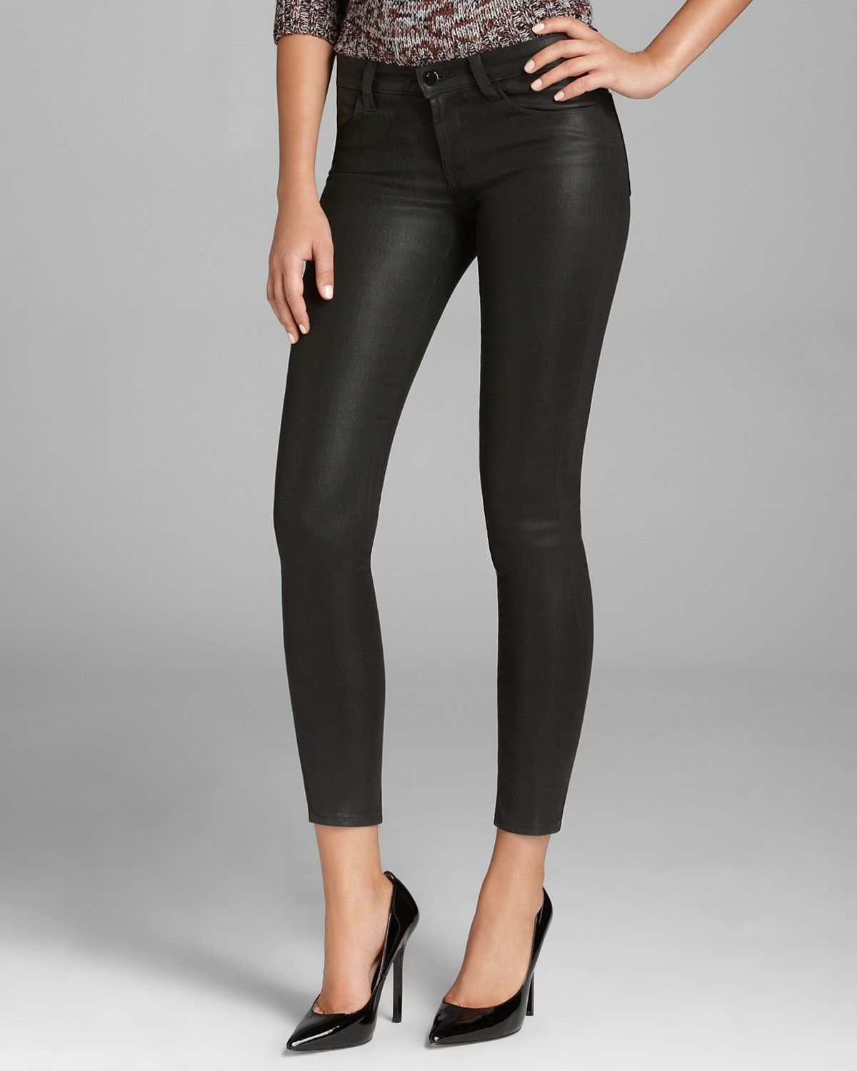 J Brand Jeans - 620 Mid Rise Super Skinny in Lacquered Black Quartz |  Bloomingdale's
